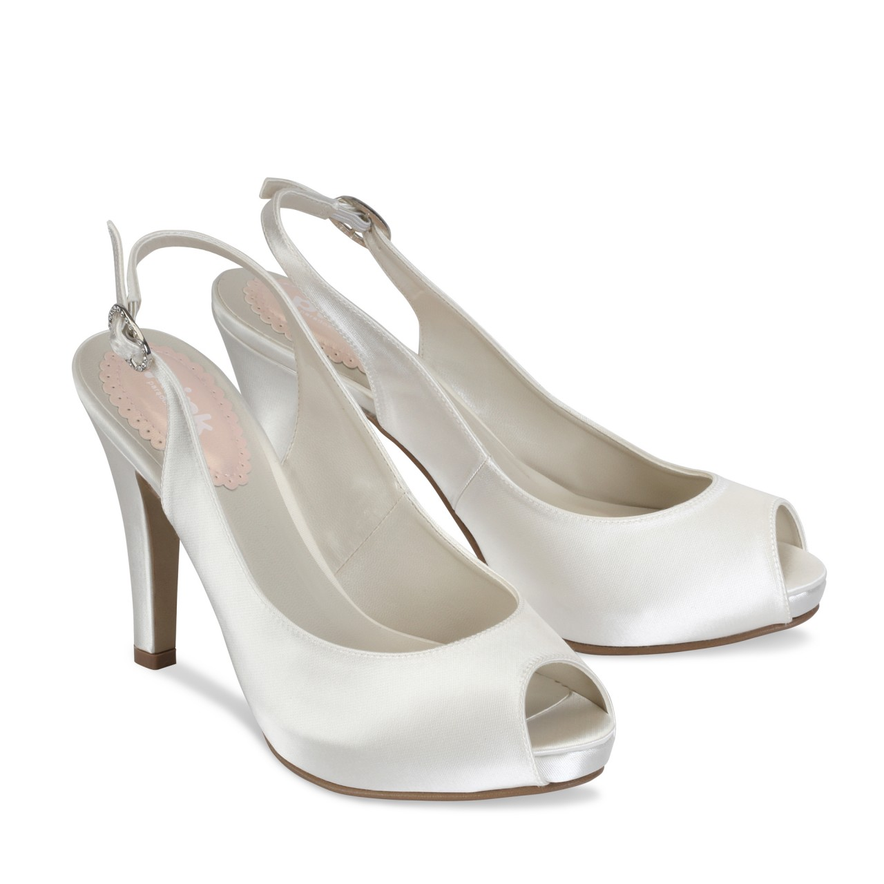 Pink Paradox Barbie Dyeable Ivory Satin Wedding Shoes
