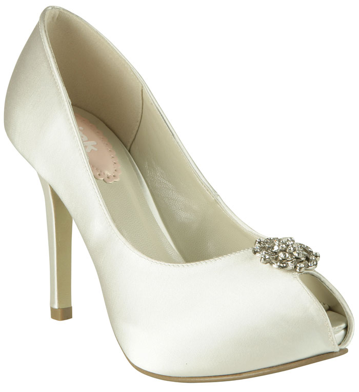 Paradox Pink Girly Dyeable Satin Wedding Shoes SALE