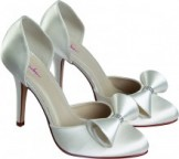 Kerry funnel bow Satin shoes