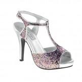 Touch Ups ZOEY 458 Multi Glitter and Silver Bridesmaid or Party Shoes