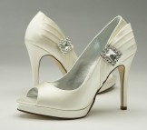 Paradox Belle Marine Silk Wedding Shoes