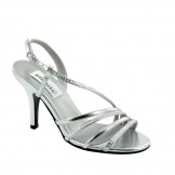 Silver Evening Shoes Jo by Dyeables USA