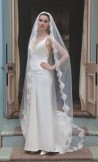 Rainbow Club Spellbinder Ivory Bridal Veil 96 inches long