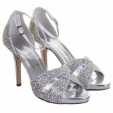 Rainbow Club Charlotte Ivory and Silver Shimmer Wedding Shoes