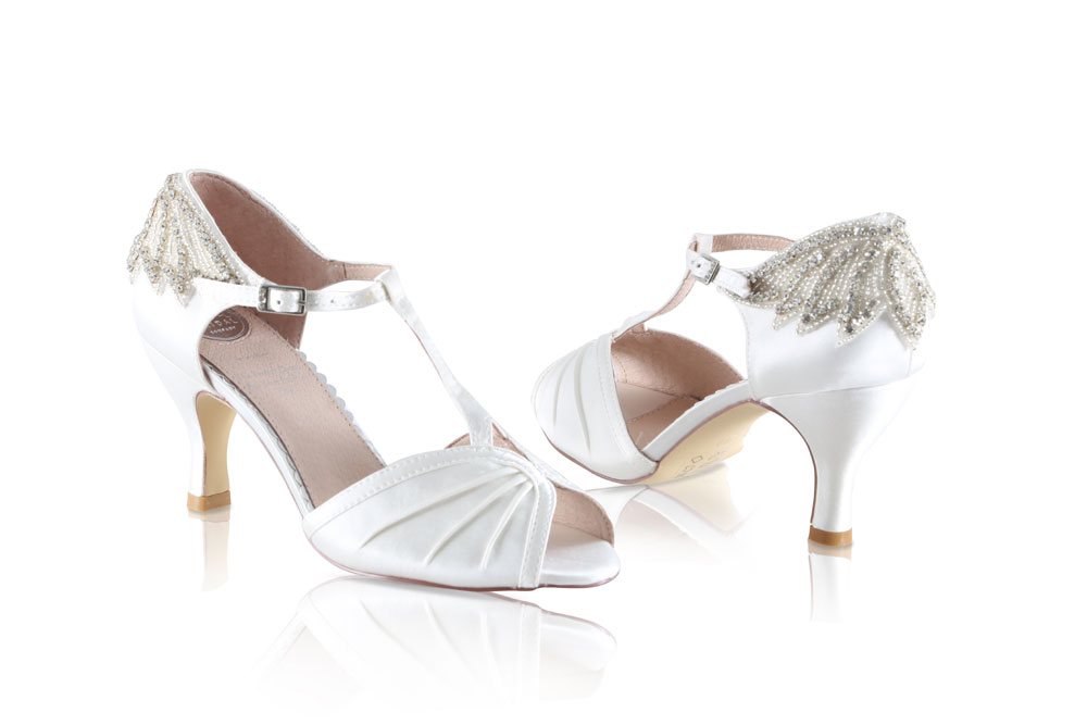 30c47ed91d8 Jessie Perfect Bridal Shoes - Wedding Shoes Ivory Satin