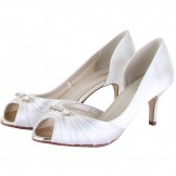 Rainbow Club Arabella Ivory Dyeable Satin Wedding Shoes