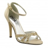 Champagne Prom Wedding and Evening Shoes Zara by Paradox London Pink