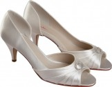 AMELIE by Rainbow Club Wedding Shoes Ivory Dyeable Bridal Shoes