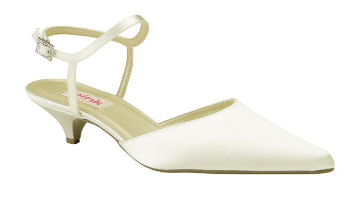 7eeb448b18d Paradox Pink Mellow Wide Fit Ivory Satin Wedding Shoes SALE
