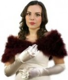 Long Length Satin Bridal Gloves Ivory BWG002