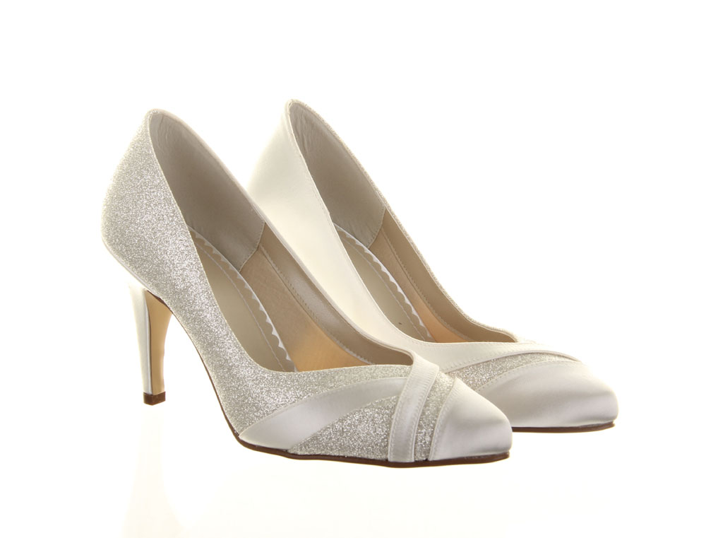 f9f3fb87643 Wide Fit Wedding Shoes Mila Rainbow Club Dyeable Bridal Shoes