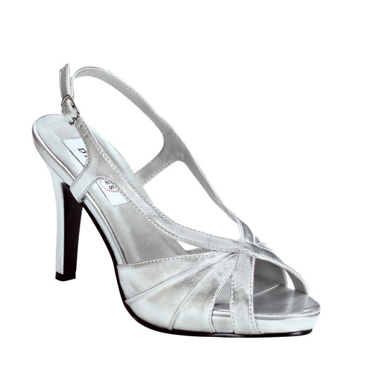 aliyah by dyeables silver bridesmaid prom or evening shoes