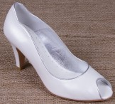 Lindsey May Maria Ivory Leather Wedding Shoes