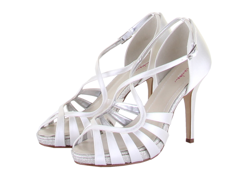 e800a61ba63 Rainbow Club Cassie Ivory Dyeable Satin Wedding Shoes. Image 1
