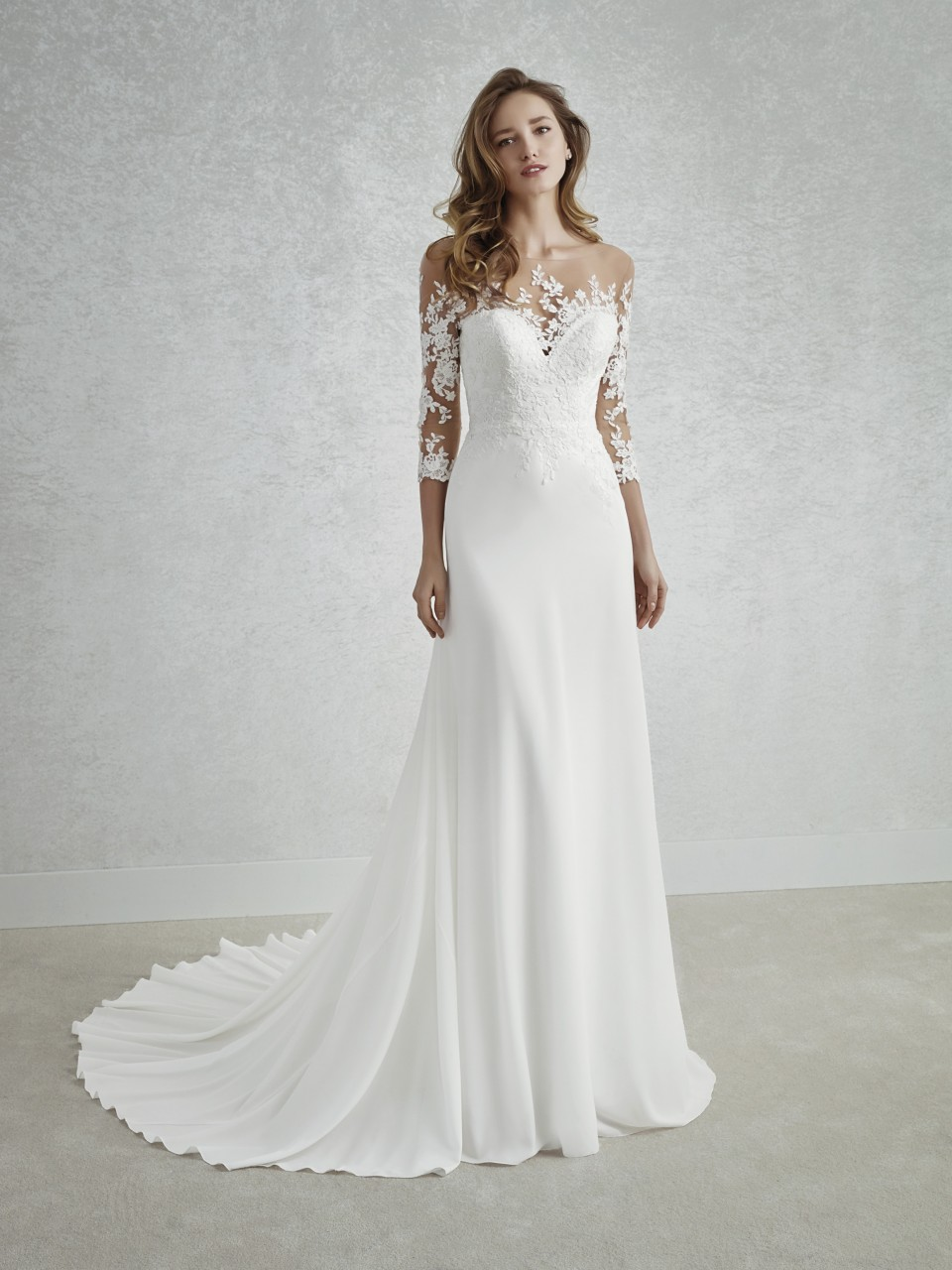 c91b4c2983a White One Collection from St Patrick by Pronovias Finura. Image 1