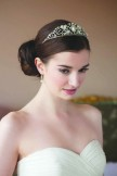 Rainbow Club Fuchsia Diamante and Pearl Bridal Tiara NEW