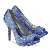 Paradox Pink Luxe Blue Diamante Wedding Shoes