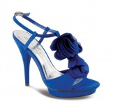 Lunar JLR062 Blue Platform Sandals Wedding Shoes