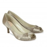 Paradox Pink Romantic Taupe Satin Occasion Shoes