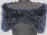 Smooth Real Feather Wrap Navy