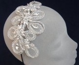Liza Designs Bridal Tiara FH8001 - Vintage Side Band