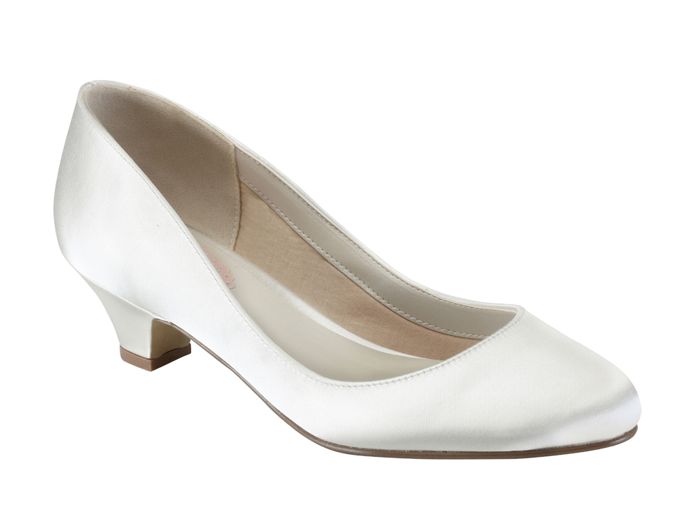 Pink Wedding Shoes Low Heel: Rosemary Bridal Shoes