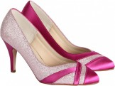 Shimmer Fuchsia wide fitting comfort Party shoes