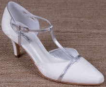 Lindsey May Shoes Sophia Silver Trim