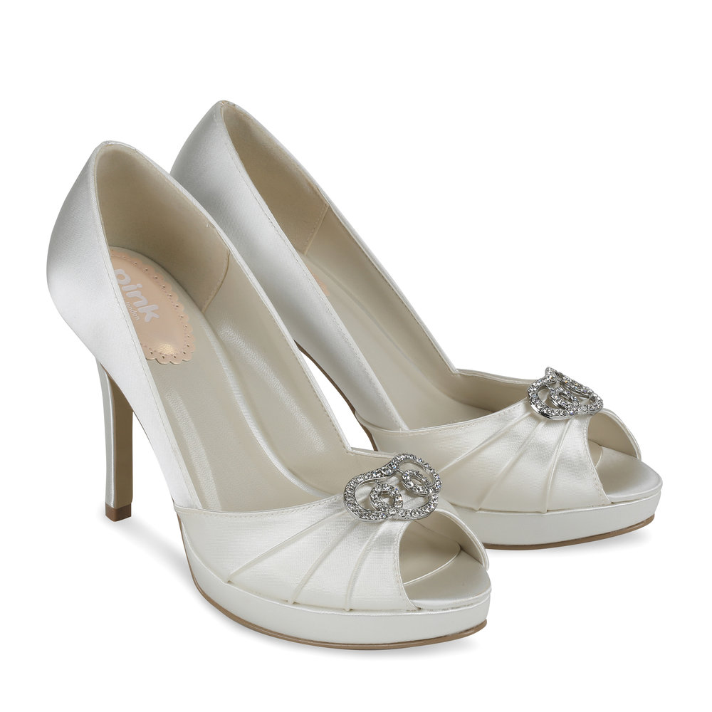 ivory wedding shoes lavish paradox pink