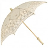Battenburg Parasol - Cream - Childs