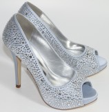 Perfect Shoes Sarah Silver Wedding Shoes