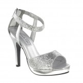 Touch Ups SIDNEY 444 Silver Bridesmaid or Party Shoes NEW