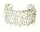 Starlet 'Monaco' Pearl and Crystal Cuff Bracelet
