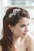 Rainbow Club Wedding Headdress Amaryllis Bridal Side Tiara