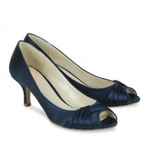 Paradox Pink Romantic Navy Satin Occasion Shoes