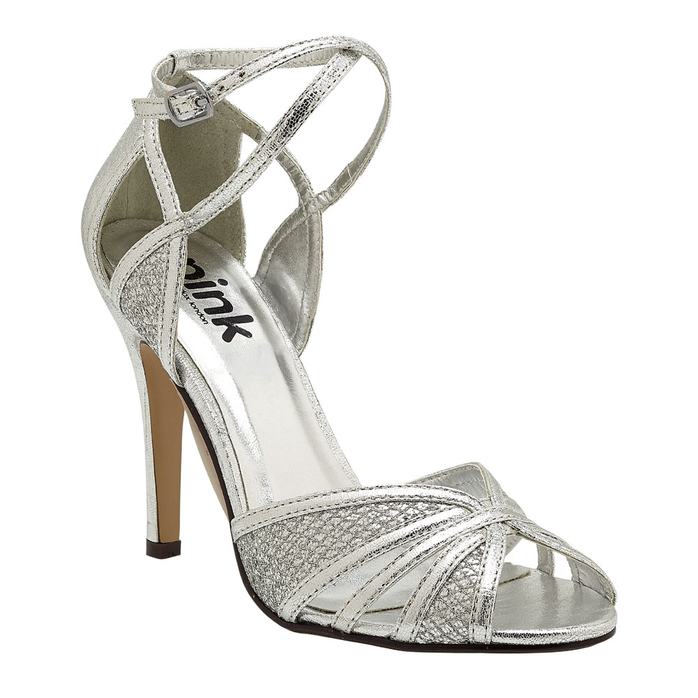 silver wedding prom shoes paradox pink
