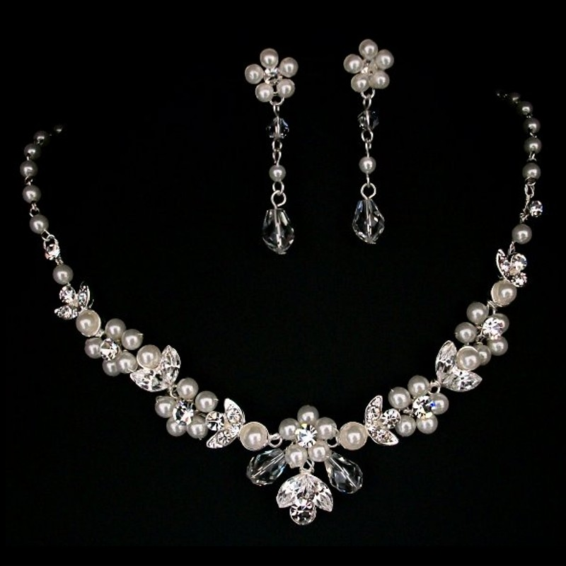Twilight Designs Pearl Bridal Jewellery Necklace Set TLS1532
