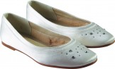 MAGGIE by Rainbow Club Childrens Bridesmaid or Communion Shoes Ivory and White