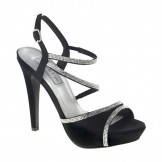 Touch Ups ALLIE 422 Black Satin Bridesmaid or Party Shoes NEW