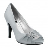 Grey Wedding and Evening Shoes Debbie by Paradox London Pink
