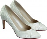 Rainbow Club Melanie Dyeable Lace Wedding Shoes NEW