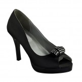 Mya Black by Dyeables - Bridesmaid, Prom or Evening Shoes