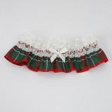 Linzi Jay Tartan Bridal Garter LG639 Red