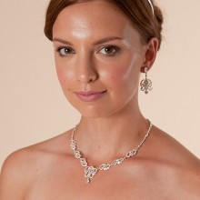 Bridal Jewellery Diamante Necklace and Earrings LW549