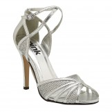 Silver Prom and Evening Shoes Paradox London Pink Sasha