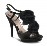 Lunar JLR062 Black Platform Sandals Wedding Shoes