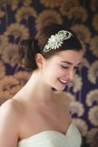 Rainbow Club Camelia Vintage Style Pearl and Diamante Side Tiara
