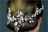 Pearl,Diamante and Crystal Hair Vine