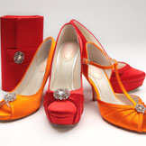 Coloured Shoes by Heel Height