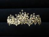 Liza Designs Crystal and Pearl Bridal Tiara FH3021